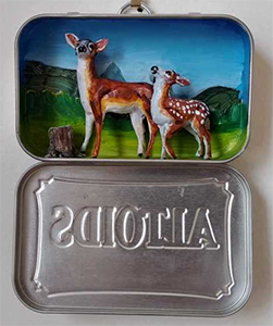 Altoid Box Sculpture of a Deer
